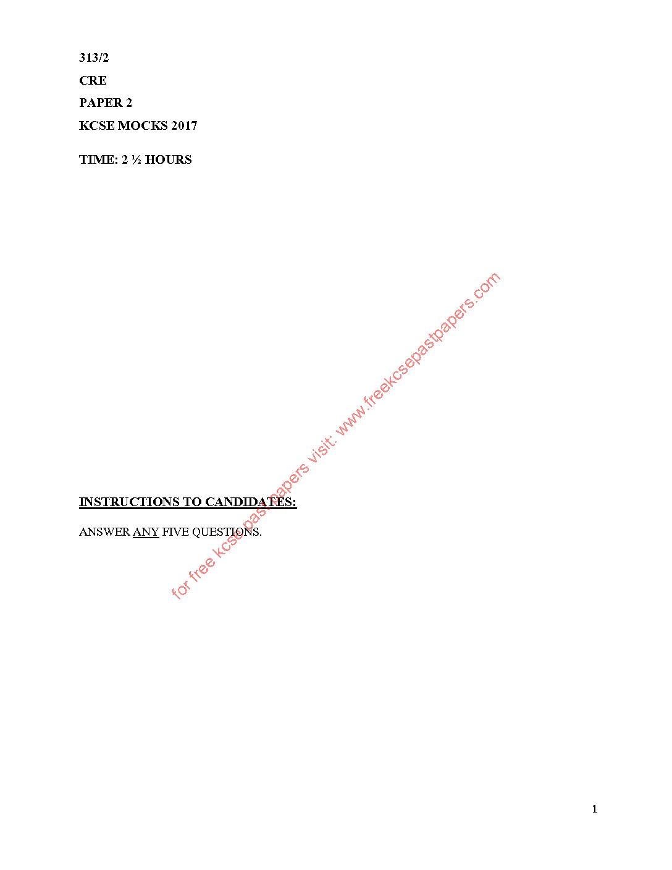 Kcse 2017 Papers Pdf