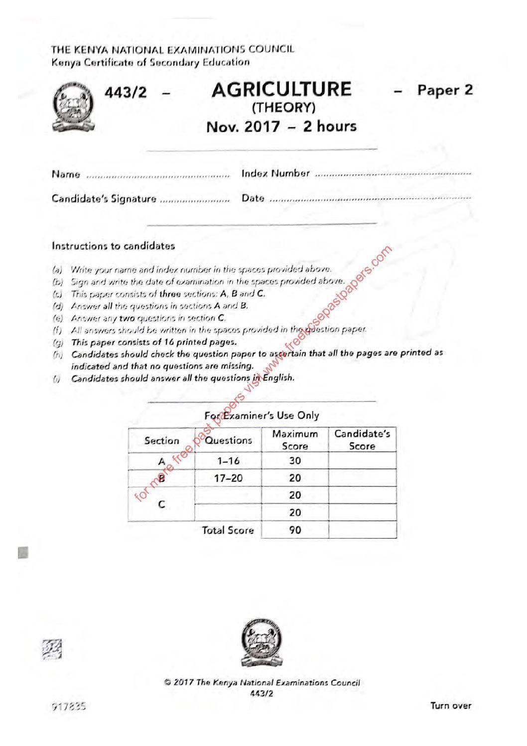 Kcse computer studies paper 2 2017