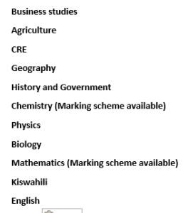 2019 Kabarak High form 1, 2 & 3 mid term 2 past papers - FREE KCSE