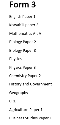 Kcpe Revision Papers